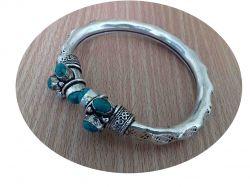 ESGOTADO! Bracelete Rajgir - Turquesa