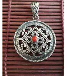 Pingente Indiano Mandala Mod 1 Prata 925