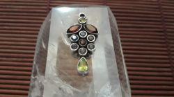 Pingente Prata 925 & 11 Pedras Preciosas