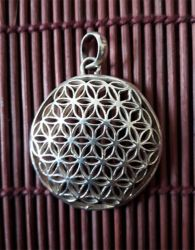Pingente & Cordão Geometria Sagrada - Prata 925