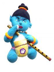 Krishna com Flauta - Boneco de Pelúcia - Mod 2