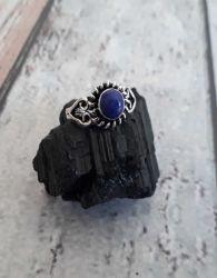 Anel Prata 925 & Lapis Lazuli. Tamanho 14