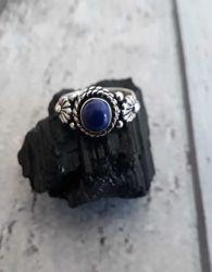 Anel Prata 925 & Lapis Lazuli. Tamanho 15
