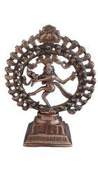 ESGOTADO! Estatueta Shiva Nataraja - Metal e Cobre