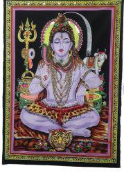 Pano Decorativo Meditating Shiva