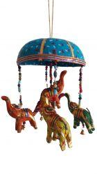 ESGOTADO! Móbile Elefantinhos - Azul