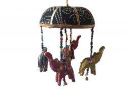 Móbile Elefantinhos - Preto