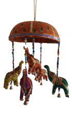 ESGOTADO! Móbile Elefantinhos - Laranja