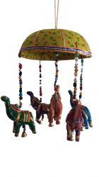 ESGOTADO  Móbile Elefantinhos - Amarelo