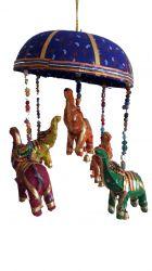 Móbile Elefantinhos - Roxo