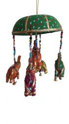 ESGOTADO! Móbile Elefantinhos - Verde 2