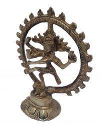 Estatueta Shiva Nataraja Mod 3 - Bronze