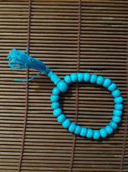Japamala Indiano Em Osso. 27 Contas. Azul