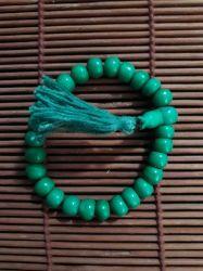 Japamala/Pulseira. Em Osso. 27 Contas. Verde