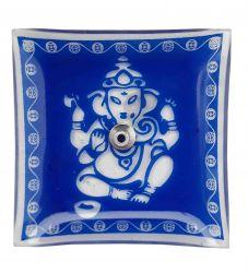 Porta Incenso Ganesha. Azul