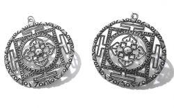 Brinco Mandala Prata 925