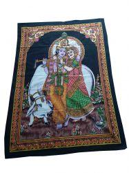 Pano Decorativo Krishna & Radha Mod2