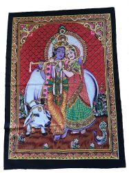 Pano Decorativo Krishna & Radha