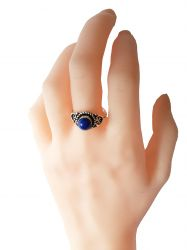 Anel Prata 925 & Lapis Lazuli.